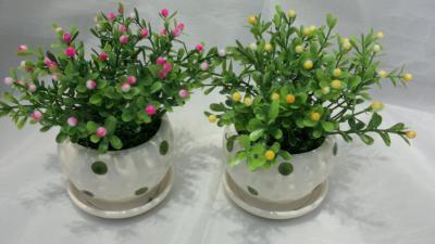 Simulation simulation of small pot ceramic bonsai pot boutique furniture plants flowers