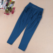 Summer new Slim was thin Korean bamboo charcoal seven points Harlan pants