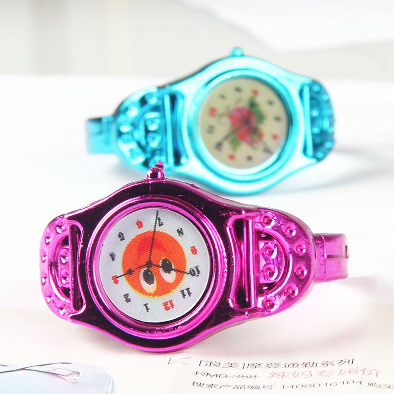 彩色塑料儿童手表卡通双色手镯