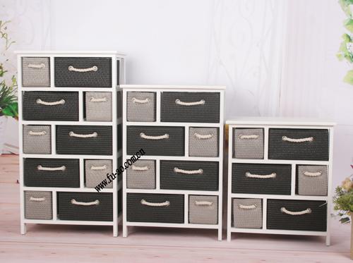 柜子 花架 床头柜 收纳箱 复古木柜