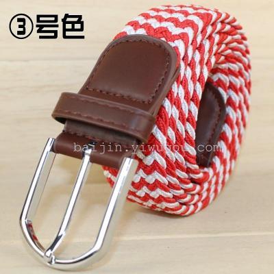 Comfortable elastic woven belts, golf street fashion explosions elastic belts 3S02080043