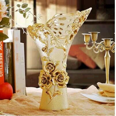 时尚花瓶客厅落地摆设创意镂空陶瓷器现代简约家居饰品欧式摆件