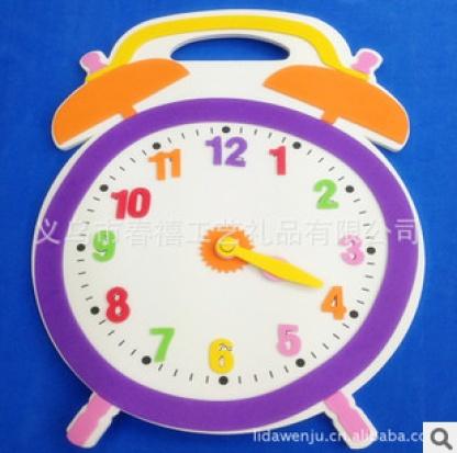 春禧厂家定做eva创意闹钟儿童diy立体手工制作钟表儿童闹钟