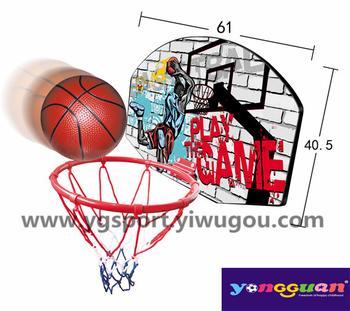Children's cartoon vertical suspension adjustable basketball goal YGJ2-666-9