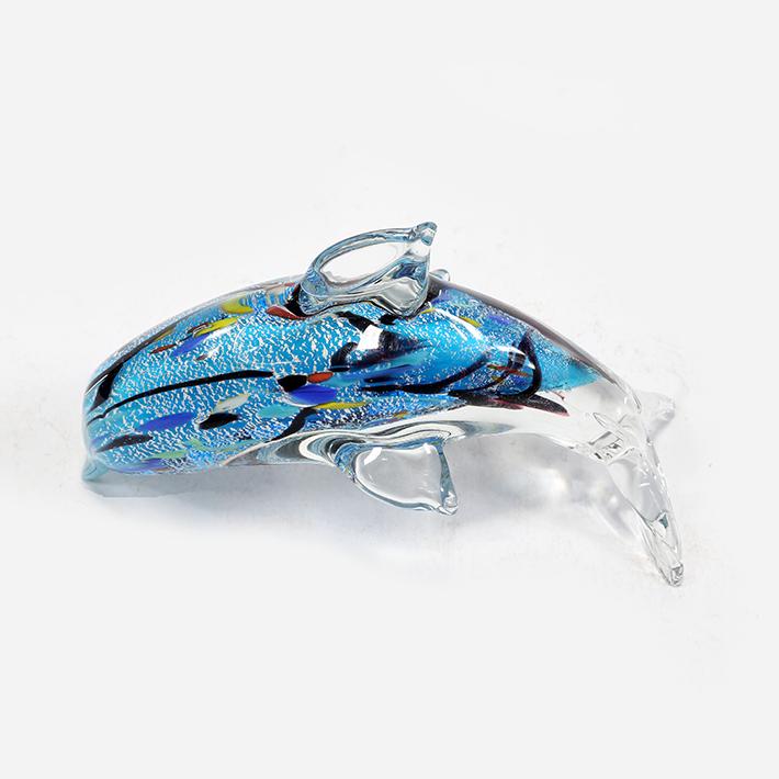 银泊海豚琉璃工艺品琉璃小动物玻璃摆件家居装饰品_王