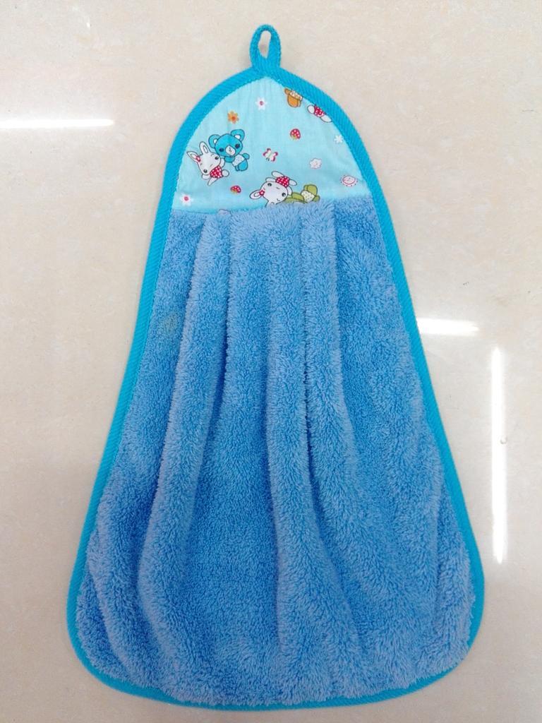 Supply Creative kitchen hanging hand towel hanging coral velvet ...