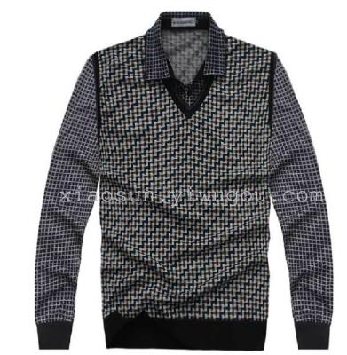 Every day special offer autumn men's shirt collars off two long sleeve t-shirt