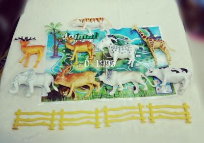 Family farm animals animal cognitive model toys kindergarten children play house Kit