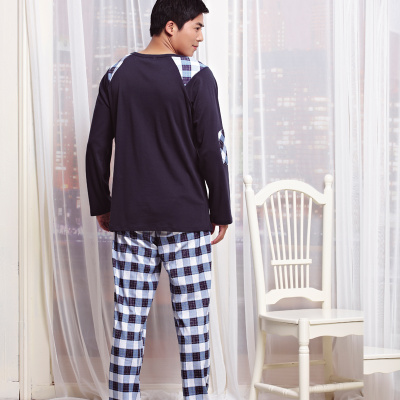 Fall of factory direct brand Pajamas wholesale men's long sleeve cotton clothing sportswear
