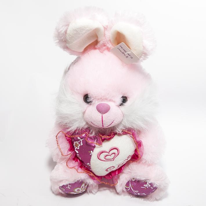 绒玩具可爱心love兔子布娃娃公仔抱枕靠垫儿童女友生日礼物