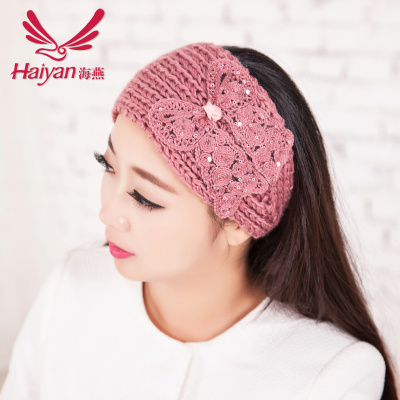 Bow knit headband Korea winter headband mixed wholesale jewelry