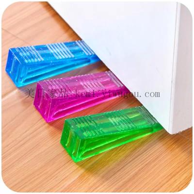 KM009 transparent door stopper storm door stops/door rubber door stop creative doorstop Crystal stopper