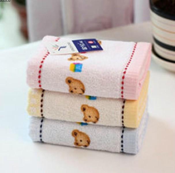 金号毛巾正品t1053可爱小熊纯棉童巾儿童毛巾 柔软吸水
