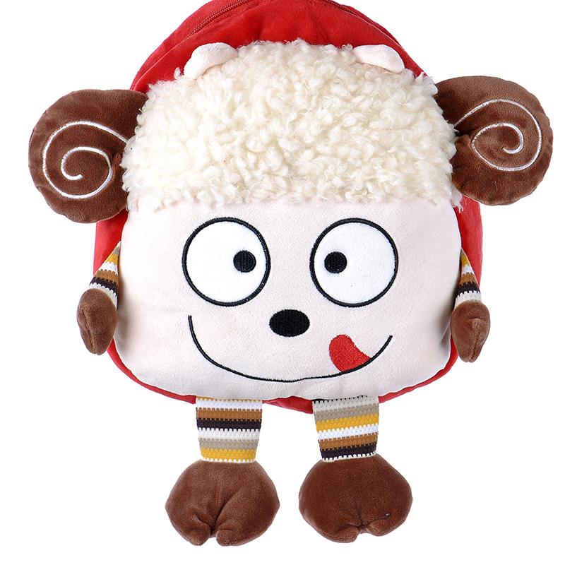新款毛绒幼儿园小书包创意儿童小羊双肩包卡通可爱玩具背包