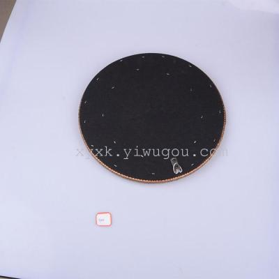 2014 new stylish leather art small round picture frame photo frames