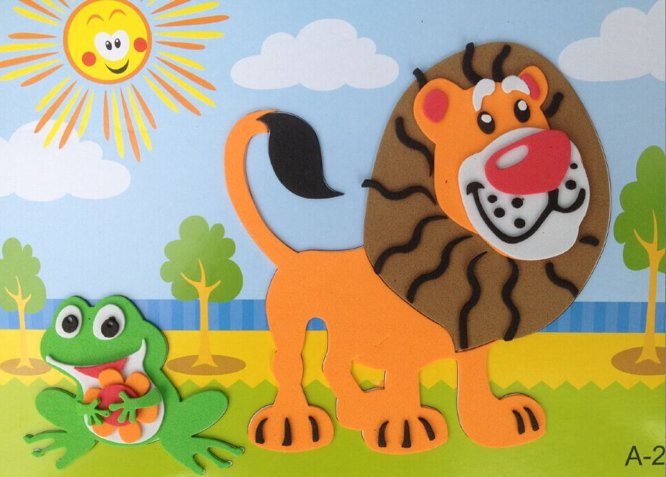 eva3d立体贴画儿童幼儿园手工制作粘贴画 diy 贴纸画