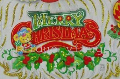 2014 3D christmas Santa head sticker