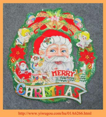 2014 3D Christmas Wreath  stickers BLD11