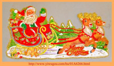 2014 3D Christmas Deer pull stickers B4