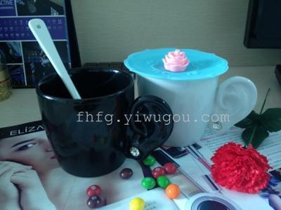 Dai Shui diamond stud ear ceramic glass ceramic Cup Continental Cup the ear ear ear cups