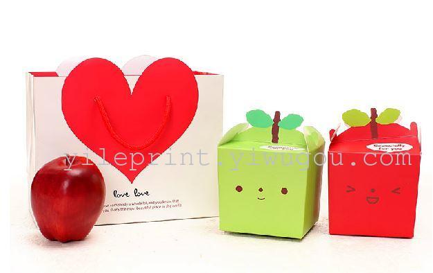 圣诞礼品盒子 创意平安夜圣诞苹果包装盒