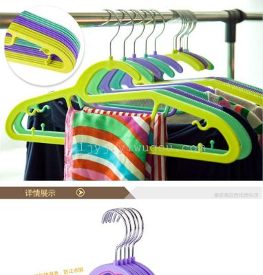 Wet and dry plastic anti-skid seamless hang hanger hangers clothes hanger coat rack clothing store racks