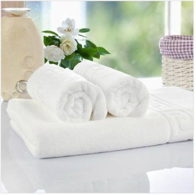 Five star hotel supplies white pure cotton and 32 Jacquard bath towel
