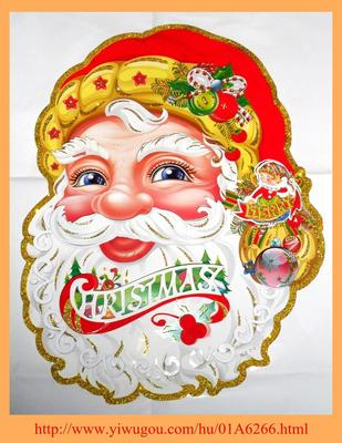 Factory direct new 2014 Santa stickers window stickers