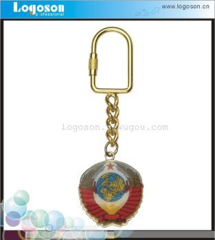 俄羅斯國徽鑰匙扣 貼紙滴膠金屬鑰匙扣 俄羅斯旅游工藝品