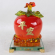 CJ0168 rich Christmas Apple imitation jade crafts ornaments wedding gifts home living room decorations