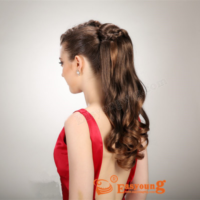 Fake ponytail hairpieces, synthetic wigs hair accessories