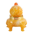 MJ587 Dragon luck catches on tripod with imitation jade ornaments resin crafts wholesale store opening gifts