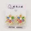 Multi-color electroplating color rhinestone earrings