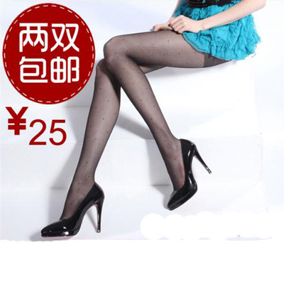 Ultra-transparent lattice jacquard pantyhose 20124