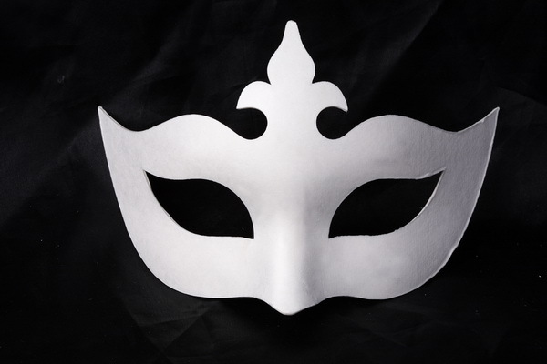 diy环保面具/纸浆面具/白色手绘面具-皇冠图片