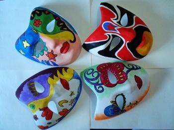 面具纸面具彩绘面具纸浆面具 V形