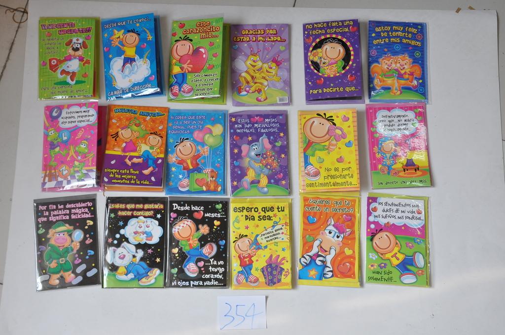 可爱卡通人物动物造型图案,生日祝福卡片,可定做