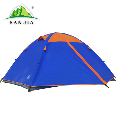Certified SANJIA outdoor camping products high grade 2person double layer aluminum poles tent