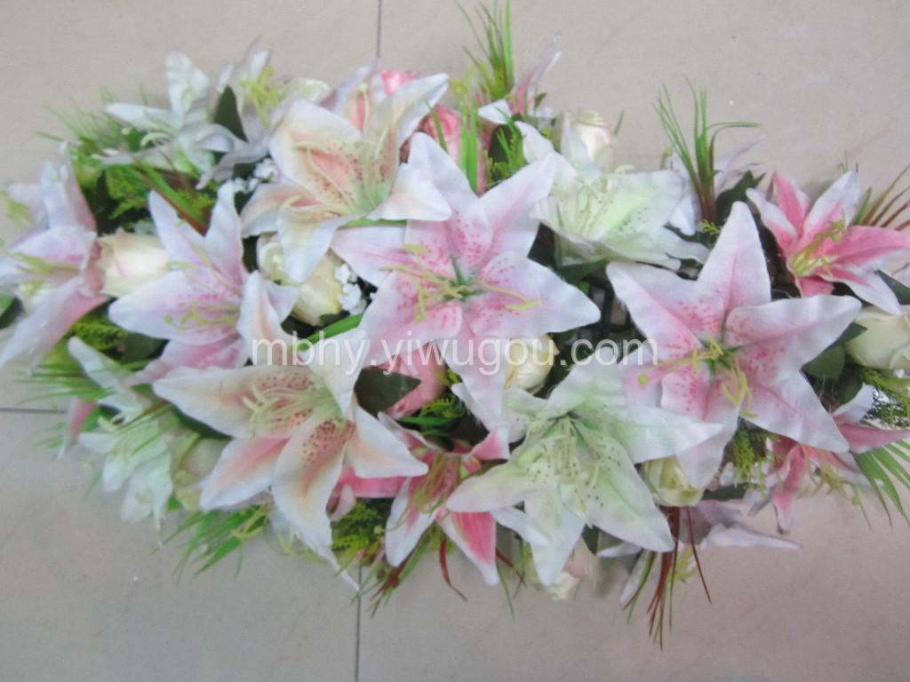 百合玫瑰蕾高仿真花套装假花装饰花客厅干花绢花大插花