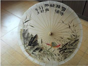 甲路工艺伞厂家直销 中国传统 艺术品质 防雨伞 手绘画油纸伞