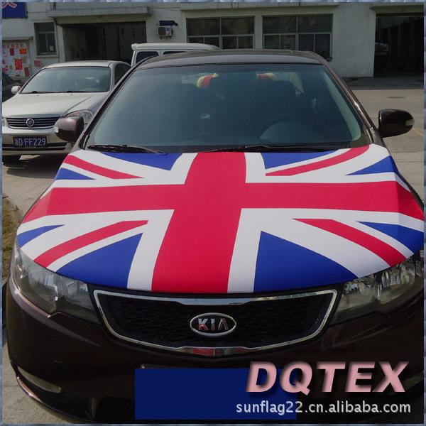英国米字国旗汽车发动机盖旗帜 巴西世界杯旗子订做 车旗定做
