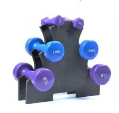Shuangpai 2013 hot sale commercial gym machine/fitness equipment/plastic dumbbell rack