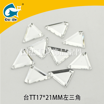 Wedding dress diy jewelry accessories trapezoidal flat bottom acrylic double hole hand sewn drill