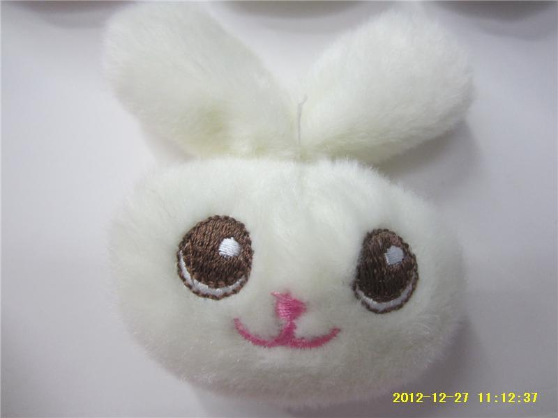 韩版 卡通兔子 头花 胸花 鞋花 卡通动物头配饰 diy饰品