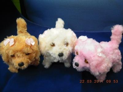 Electric plush toy dog retreats the dog eyes light electric plush dog imitation dog bark.