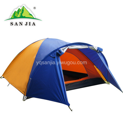 Certified SANJIA outdoor camping products high grade 3-4 person double layer automatic tent