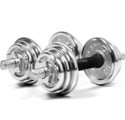 Professional bodybuilding weights manufacturer price chrome adjustable dumbbell
