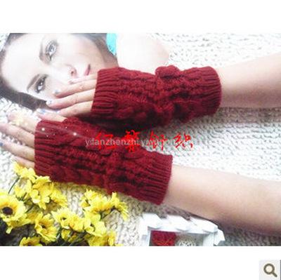 Korean fashion show means three twist short gloves non-mainstream unisex gloves