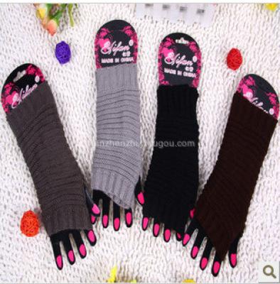 Short gloves/non-mainstream Korean sauce dorsal stripe unisex gloves