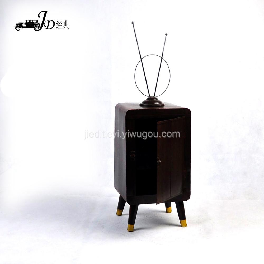 手工做旧 复古铁皮车模 老式电视机tm045